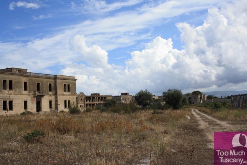 Abandoned military base on Varano Lake