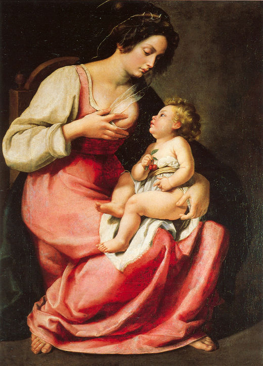 Artemisia Gentileschi, Madonna and child