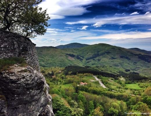 Vallesanta : view from La Verna Hermitage