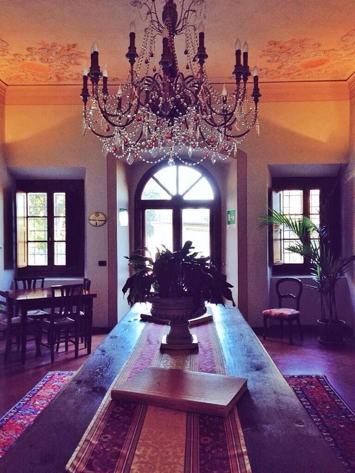 The cozy atmosphere at Villa La Palagina