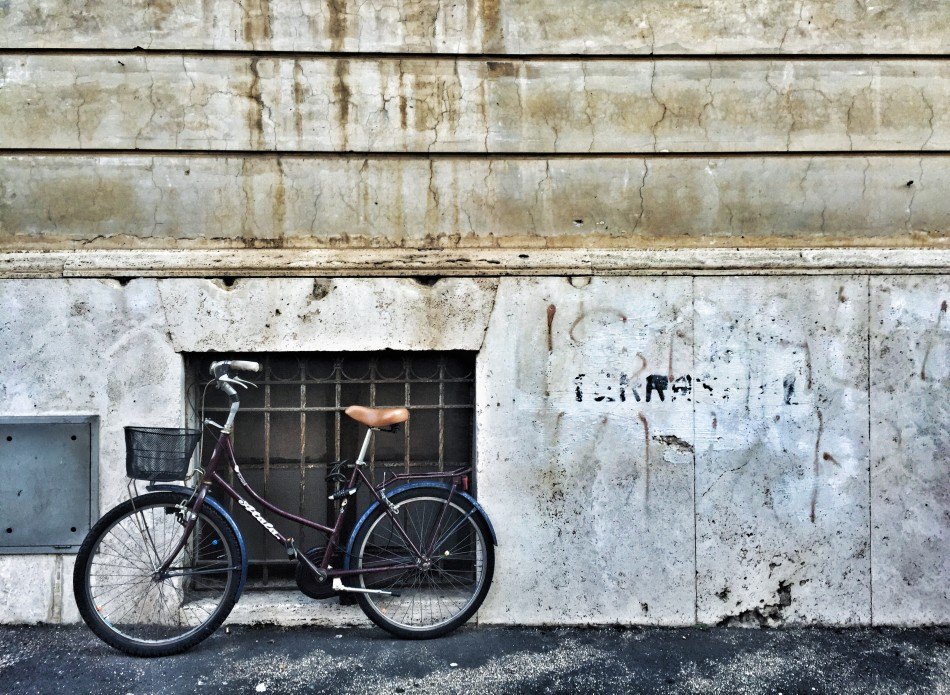 Lonely bike in Jewish ghetto