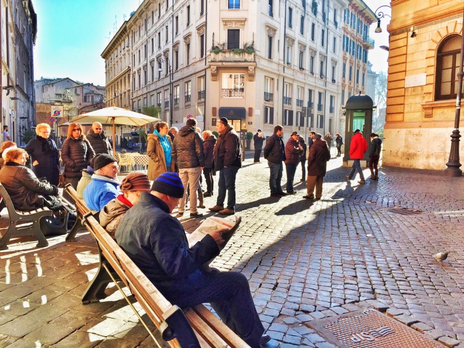 Saturday morning in the Roman Ghetto