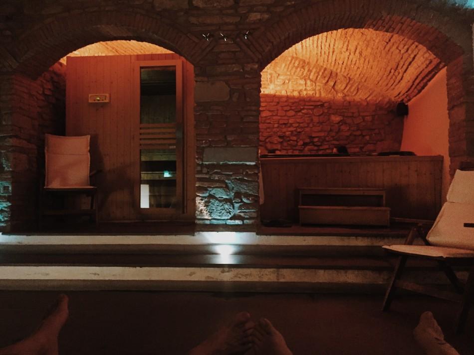 Relaxing at Spa center at Borghese Palace