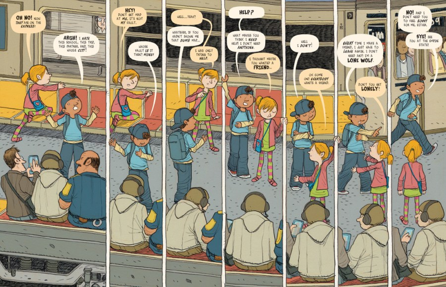 Lost in NYC  A Subway Adventure   TOON Graphics   TOON Books View sample pages