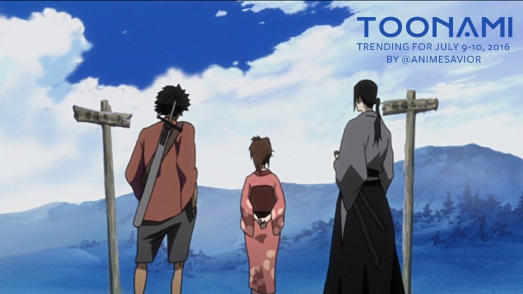 Toonami Trending Rundown 07-09_10-16