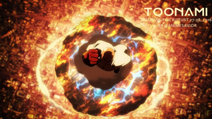 Toonami Trending Rundown for August 27th-28th, 2016