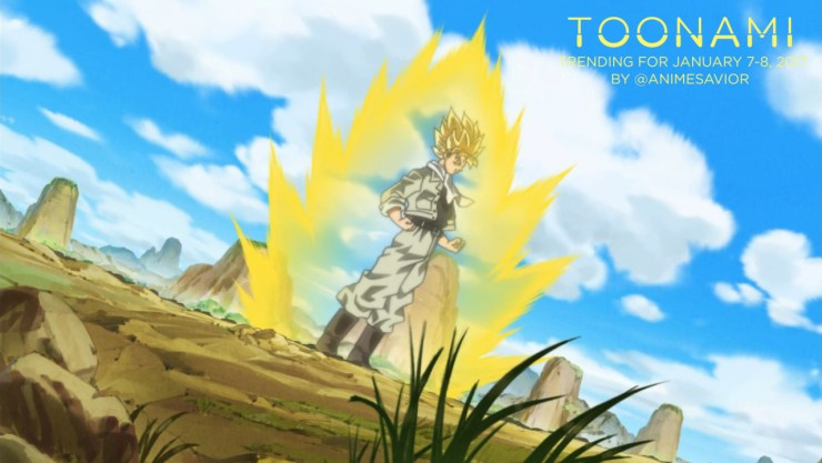 Toonami Trending Rundown for January 7th- 8th, 2016