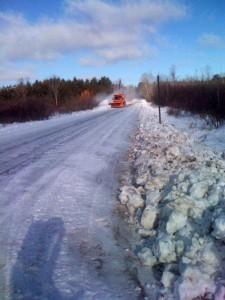 A huge snow plow