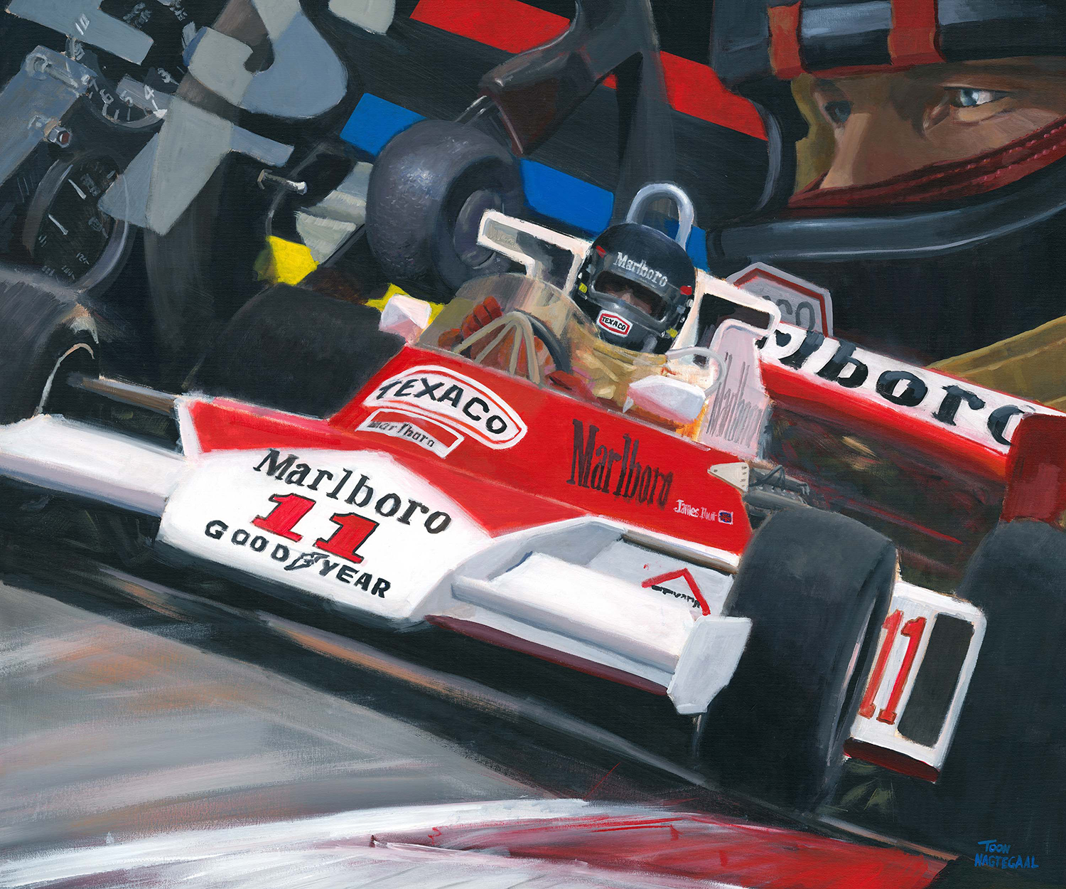 James Hunt McLaren M23 1976 Toon Nagtegaal