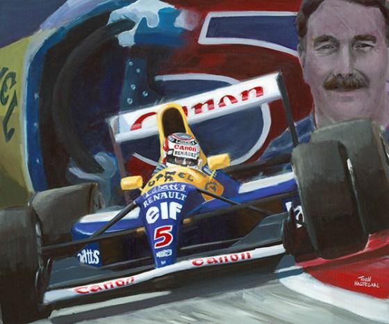 Nigel Mansell Williams FW14 1992