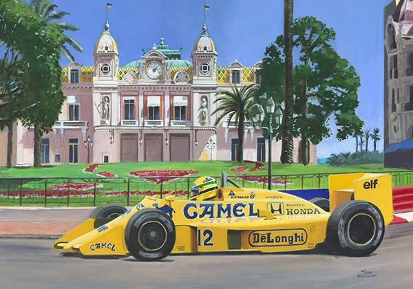 Ayrton Senna wint de GP van Monaco (1987)