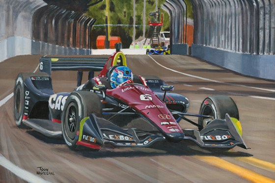 Rookie Robert Wickens leidt de openingsrace van de IndyCars in de Schmidt Peterson Motorsports