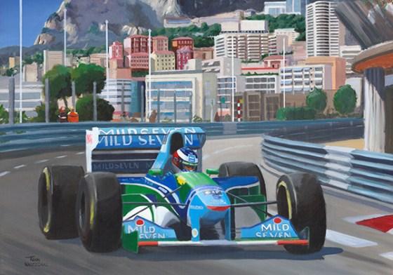 Michael Schumacher wint de GP van Monaco 1994