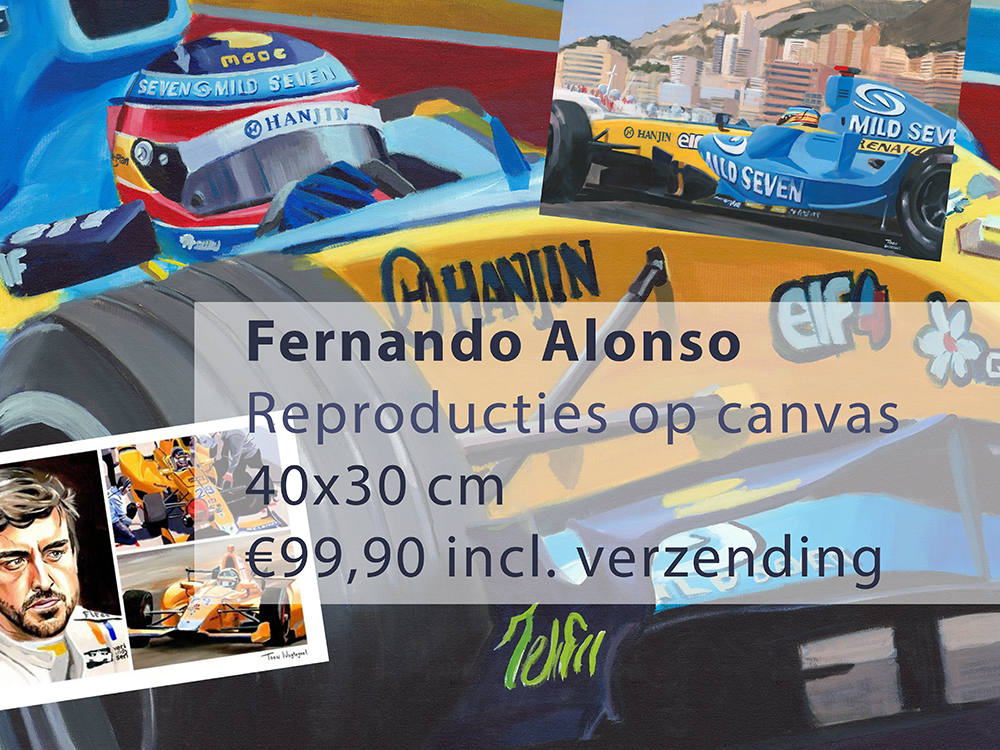 Alonso repro op canvas