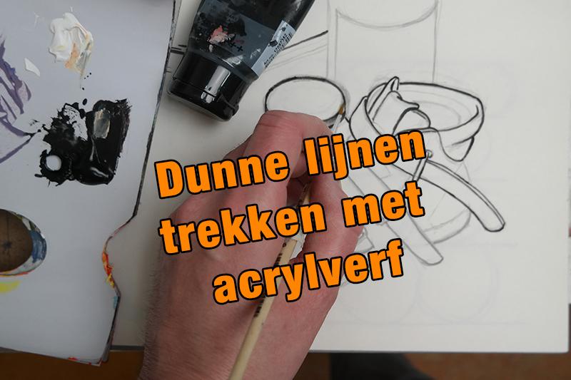 Dunne lijnen schilderen met acrylverf