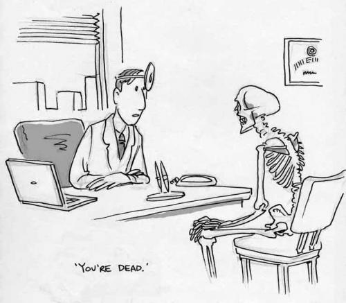 Image result for dead patient cartoon