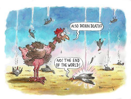 Death Birds By Marian Kamensky Nature Cartoon Toonpool