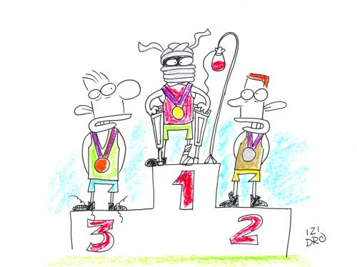 Cartoon: podium (medium) by izidro tagged cartoon
