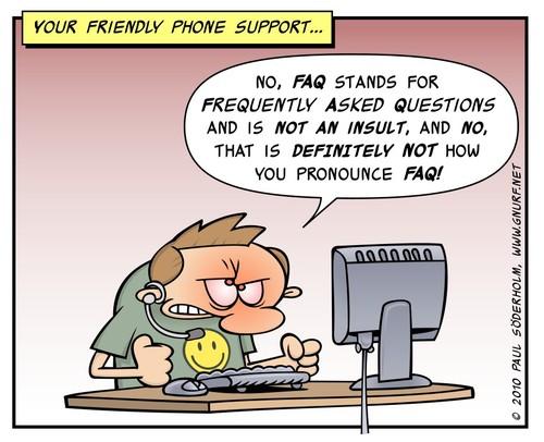 FAQ, cartoon
