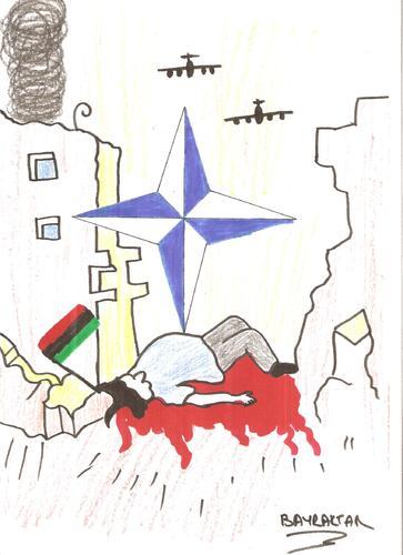 Cartoon: libyaya özgürlük (medium) by Seydi Ahmet BAYRAKTAR tagged libya