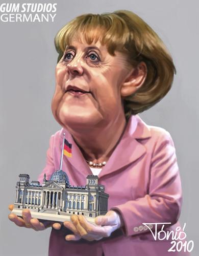 Cartoon: Angela Merkel (medium) by Tonio tagged german,chancellor,deutsche,bundeskanzlerin,cdu