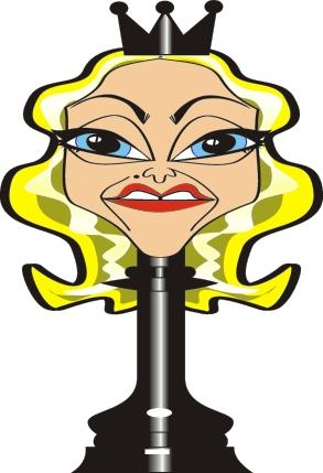 Cartoon: TV Times illo - Madonna (medium) by spot_on_george tagged madonna,chess,pop,caricature