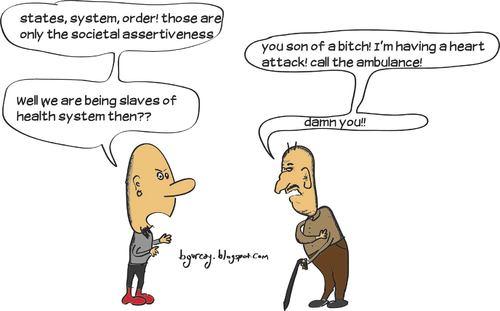 Cartoon: Anarchy of grandchild (medium) by bgurcay tagged anarchy,cartoon,comic