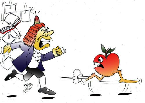 Image result for newton cartoon