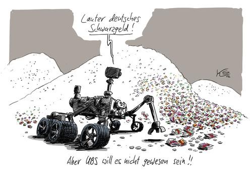 Kartoon Schwarzgeld, ...in der Schweiz