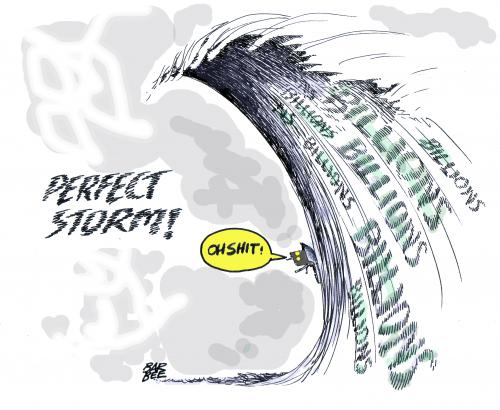 Image result for perfect storm cartoon