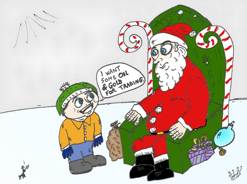 Kid Wants Oil And Gold For Xmas By BinaryOptions