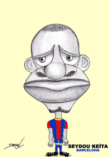 Cartoon: SEYDOU KEITA (medium) by serkan surek tagged surekcartoons