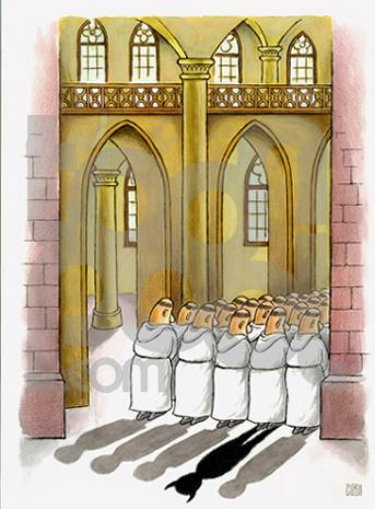 The Devil in Priest's clothing  |  Cartoon By Constantin Ciosu - Romania; Source & Courtesy - toonpool.com; uploaded on July 06, 2008  |  Click for larger source image.