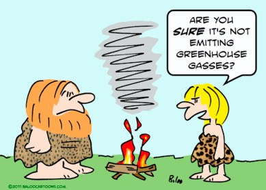 caveman fire greenhouse gases By rmay | Nature Cartoon | TOONPOOL
