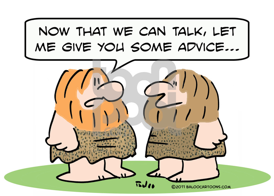 Cartoon: caveman learn talk advice (large) by rmay tagged caveman,learn,talk,advice