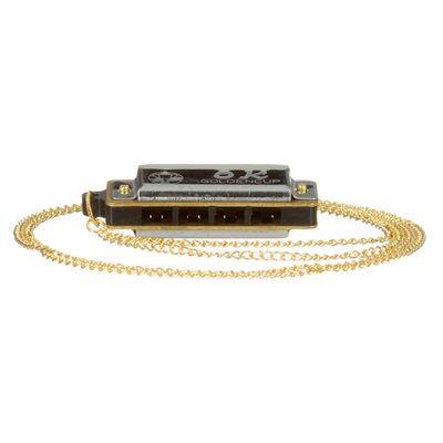 Mini mondharmonica aan ketting