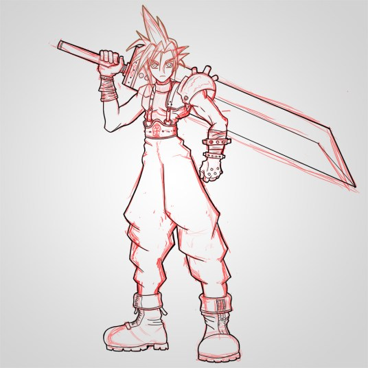 ow To Draw Cloud Strife
