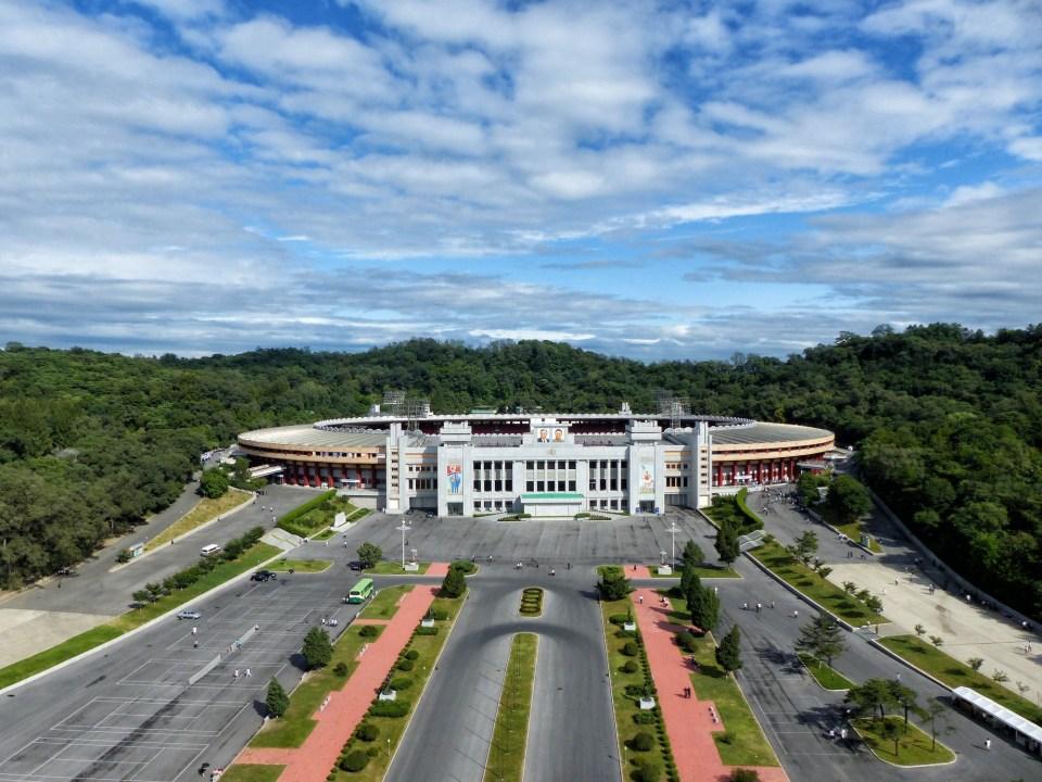 Kim Il Sung Stadium from above