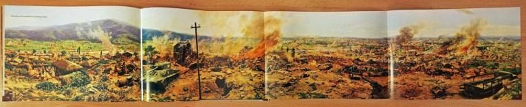 Page from museum brochure - battle scene