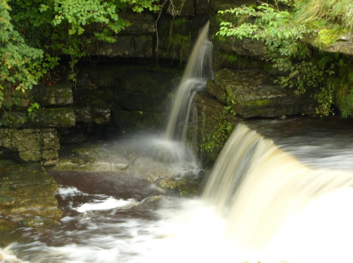Waterfall cascading over rocks