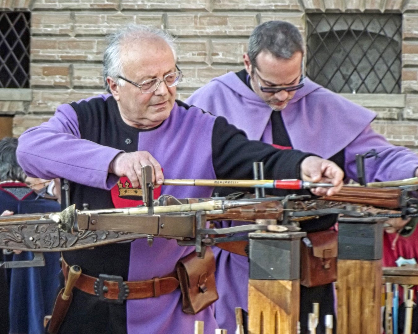 Men with crossbows
