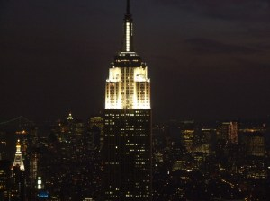 Empire State Building at night