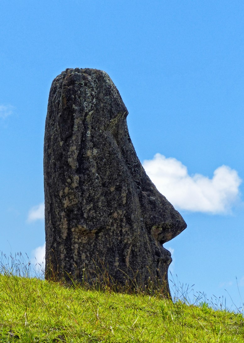 Large stone head