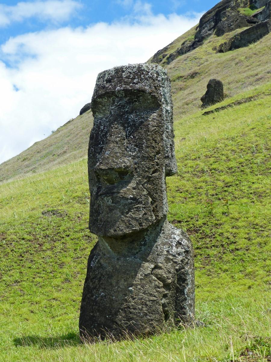 Large stone heads