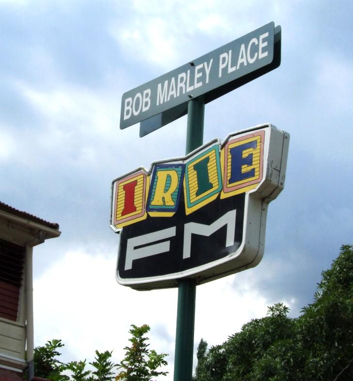 Street sign, Bob Marley Place
