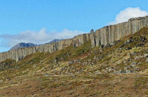Rocky landscape with outcrop of stone pillars