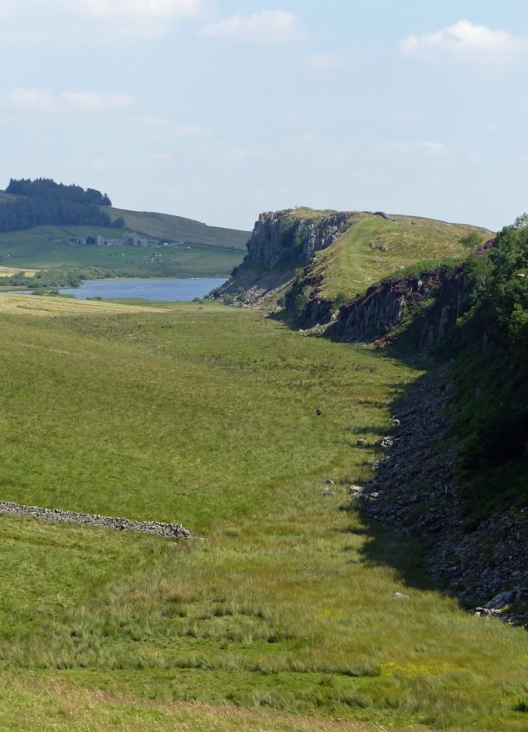 Landscape with lake and escarpment