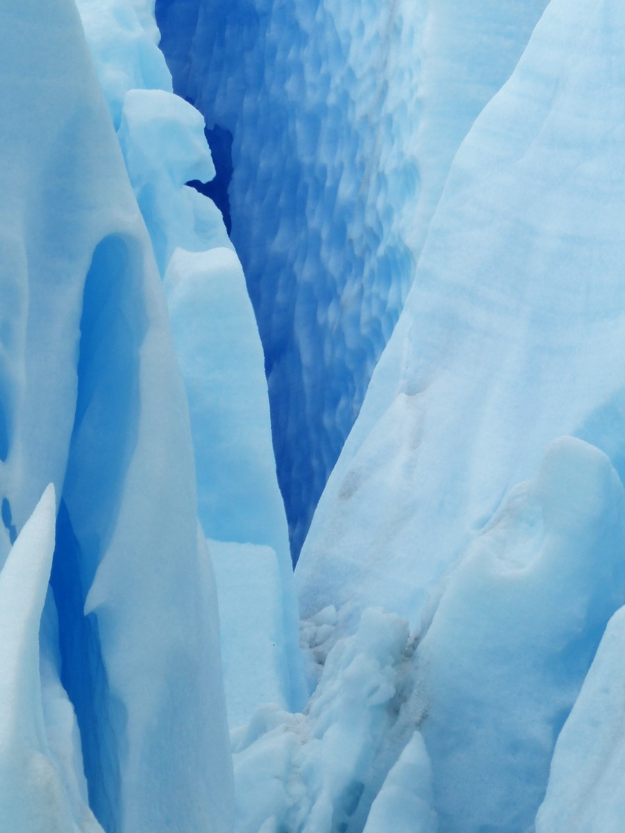 Close up view of blue glacier