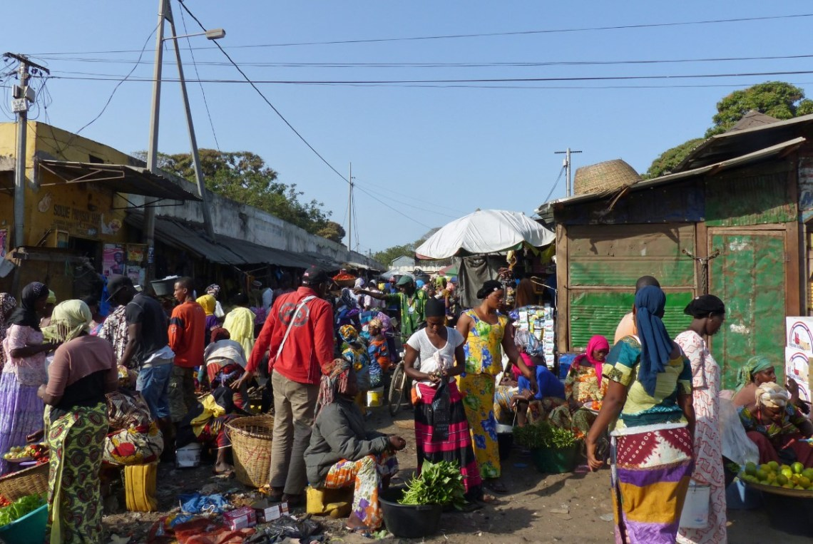 Busy African market