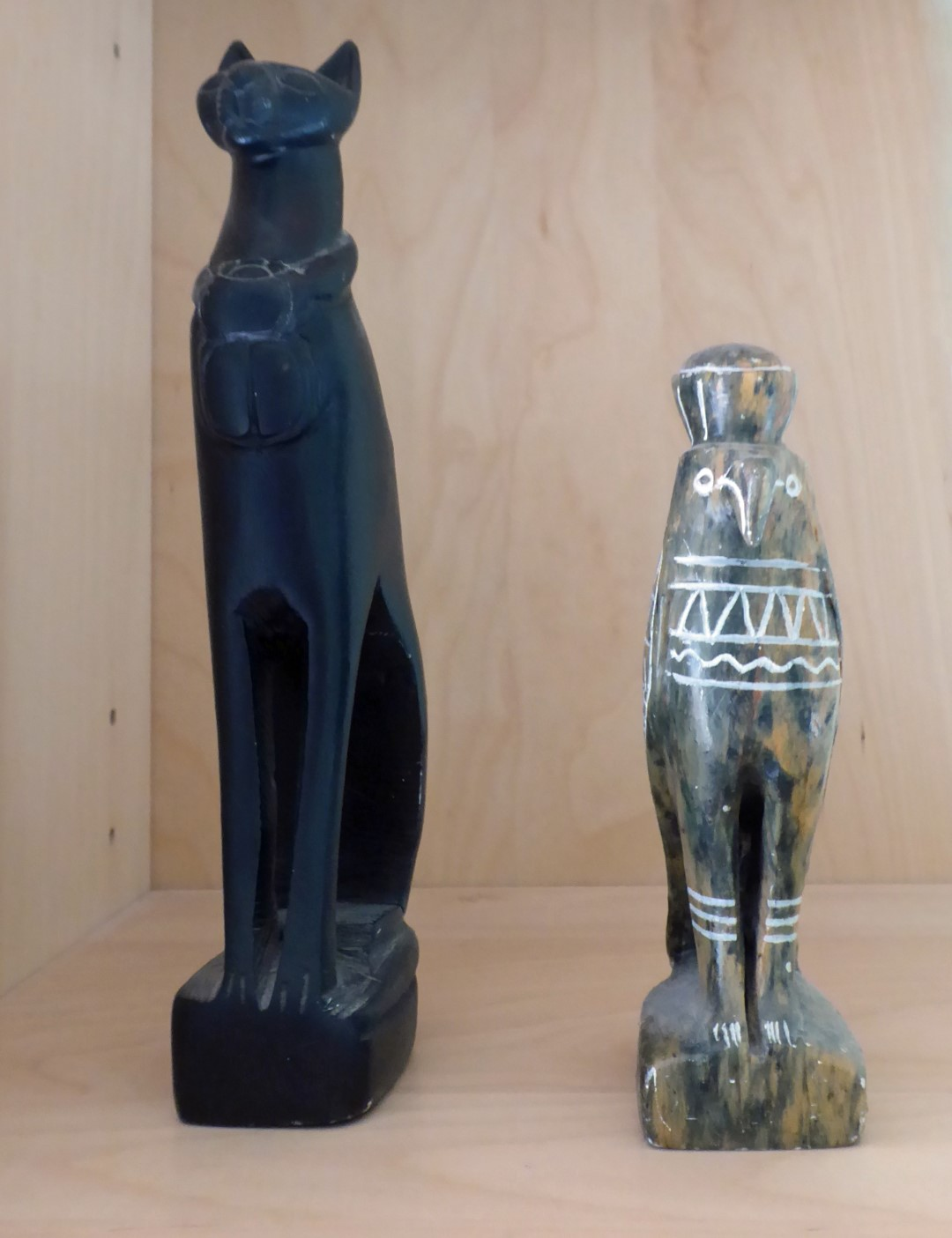 Stone carvings of Egyptian gods